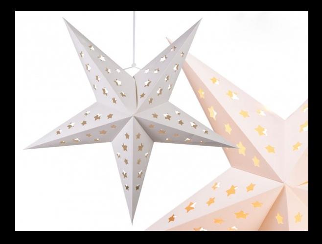 Steckonline Papier Weihnachtsstern Weiss
